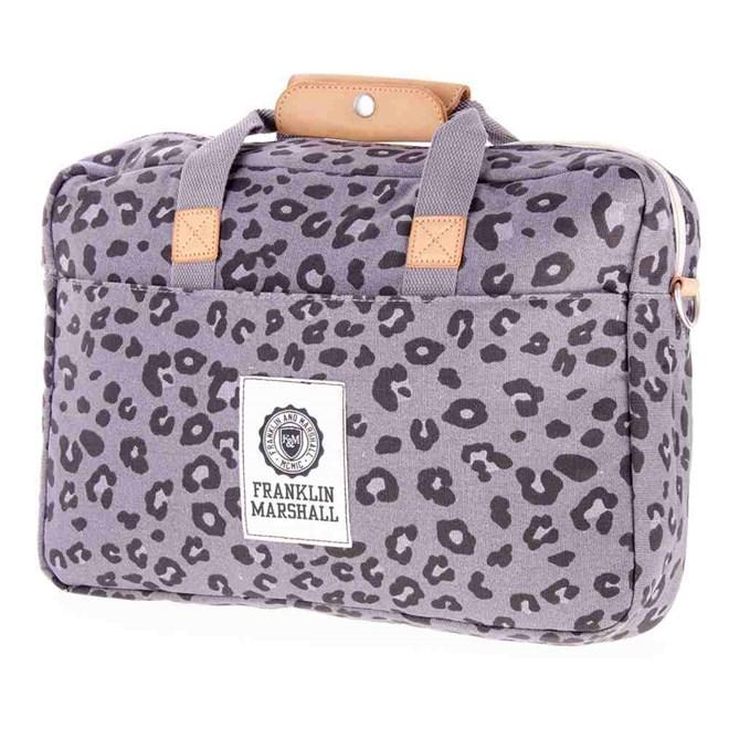 taška přes rameno FRANKLIN & MARSHALL - Fashion reporter - leopard all over (71)
