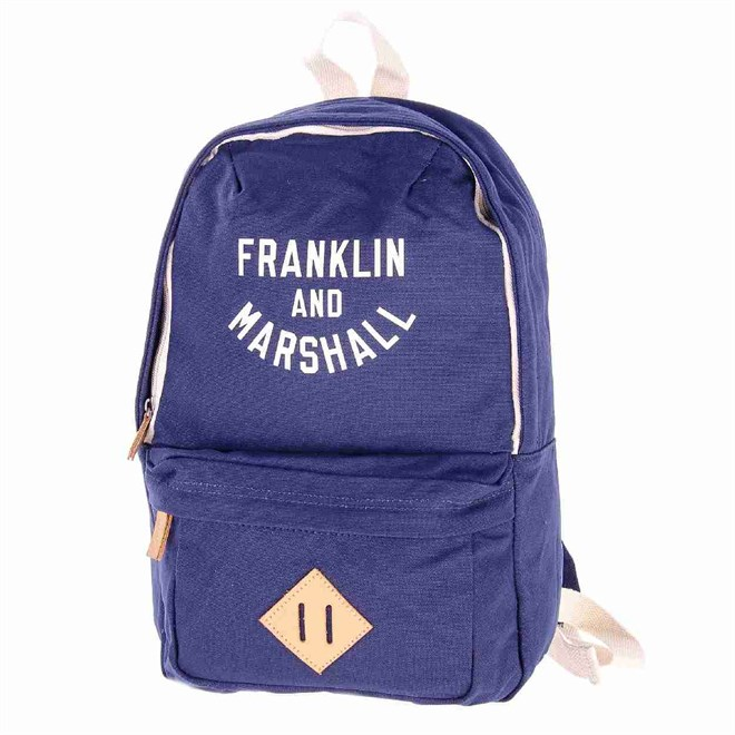 batoh FRANKLIN & MARSHALL - Varsity mini backpack - dark blue solid (25)