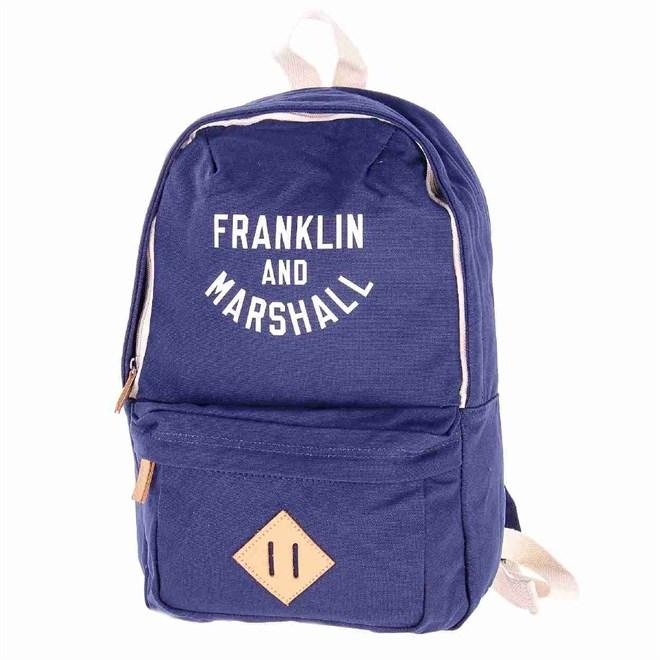batoh FRANKLIN & MARSHALL - Varsity mini backpack - dark blue solid (25)