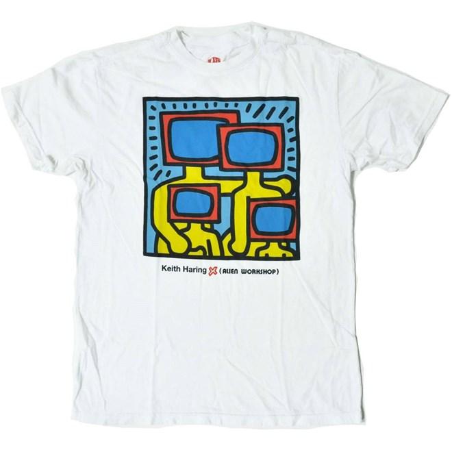 Tshirt ALIEN WORKSHOP - Haring Tv Family Strtus Wht (BILA)
