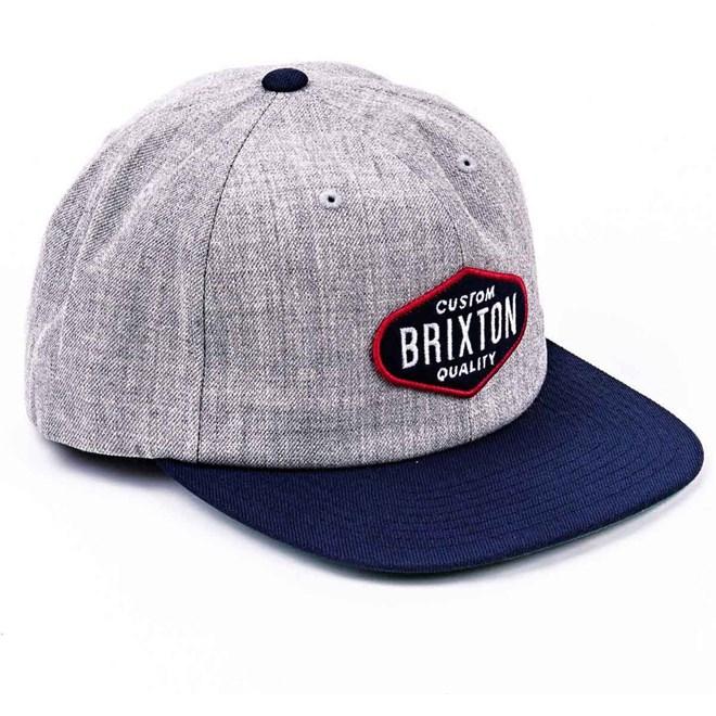 kšiltovka BRIXTON - Oakland Light Heather Grey-Navy (LHGNV)