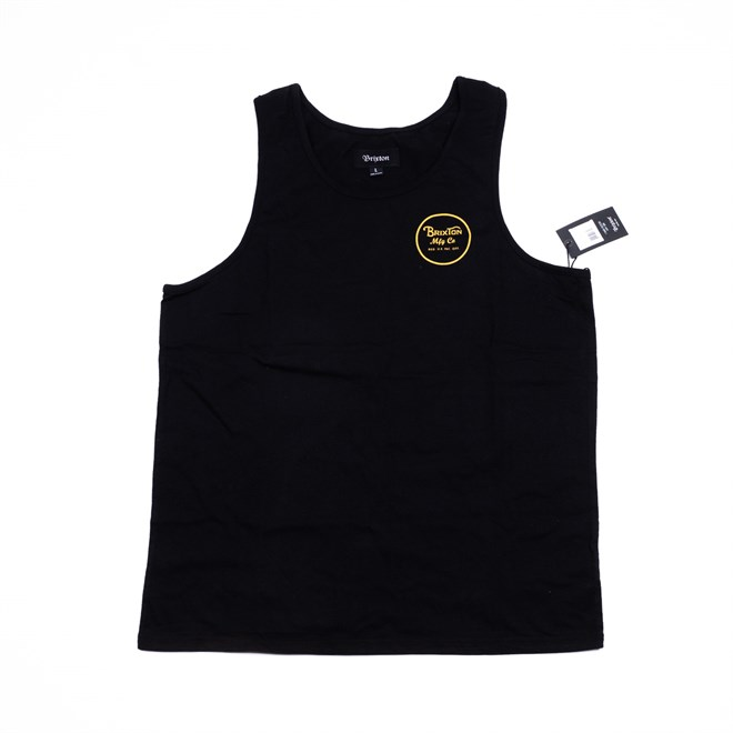 tílko BRIXTON - Wheeler Tank Top Black/Gold (BKGLD)