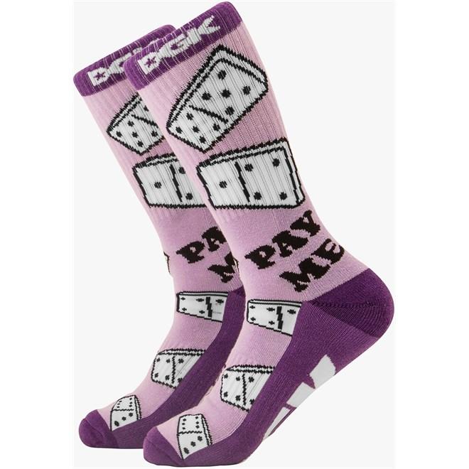 ponožky DGK - Pay Me Crew Sock Pair Purple  (PURPLE)