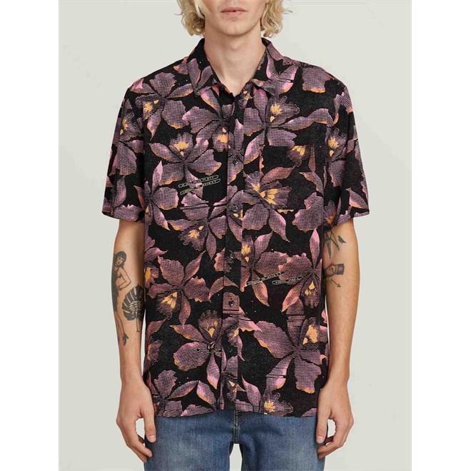 košile VOLCOM - Resorto Vallarta S/S Neon Pink (NPK)