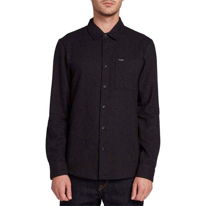 košile VOLCOM - Caden Solid L/S Black (BLK)