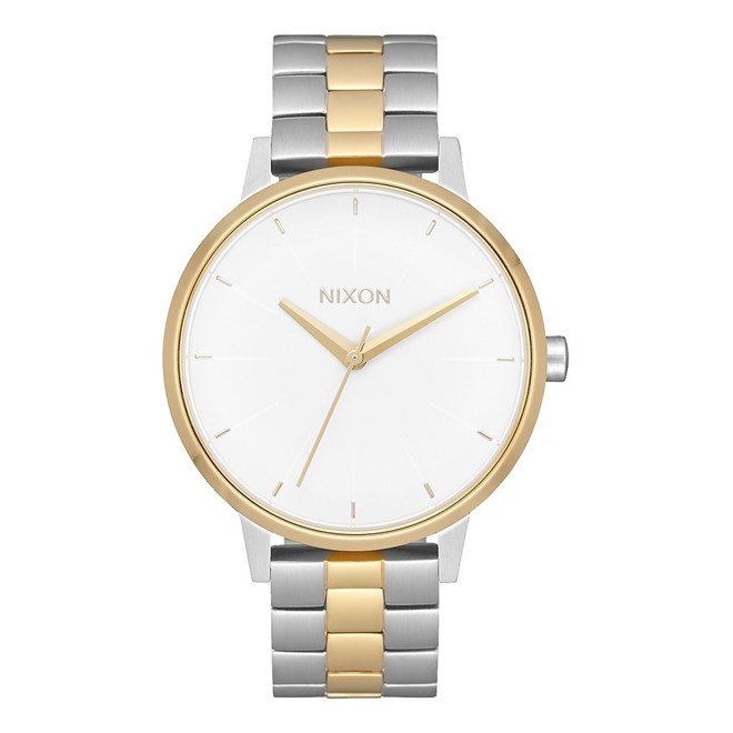 hodinky NIXON - Kensington Silver Gold White (2706)