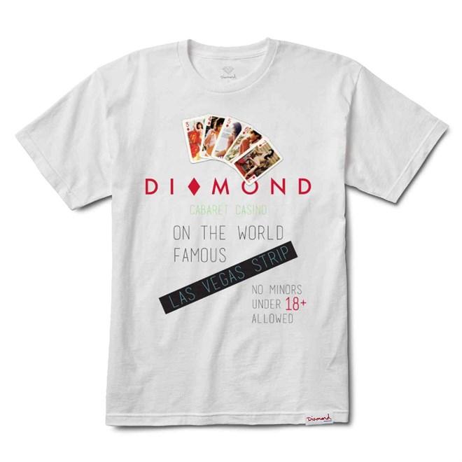 triko DIAMOND - Diamond Casino Tee White (WHT)