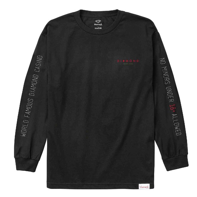 triko DIAMOND - Diamond Casino L/S Tee Black (BLK)