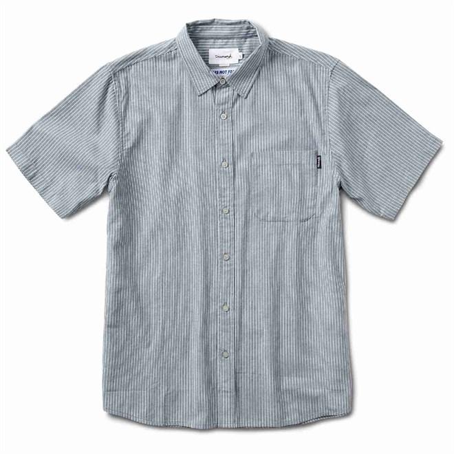 košile DIAMOND - Striped S/S Woven Blue (BLU)