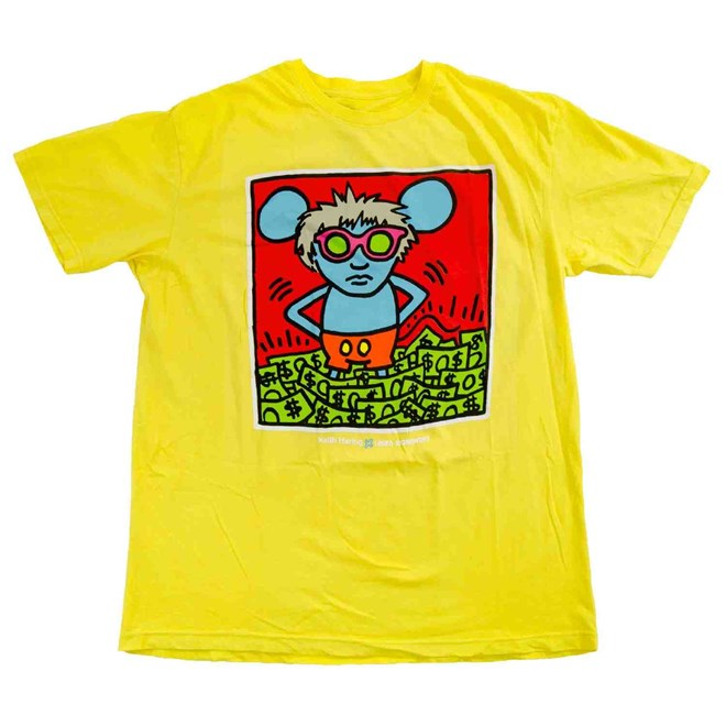 triko ALIEN WORKSHOP - Haring Andy Mouse Yellow (ZLUTA)