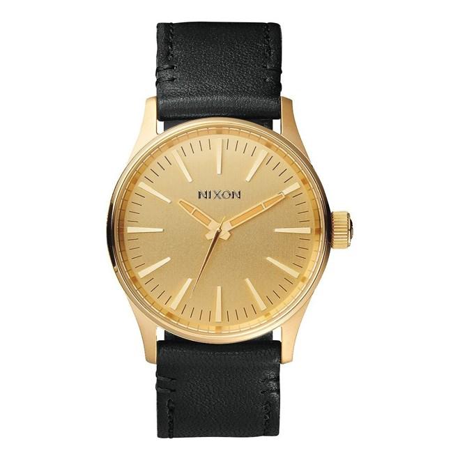 hodinky NIXON - Sentry 38 Leather Gold Black (513)
