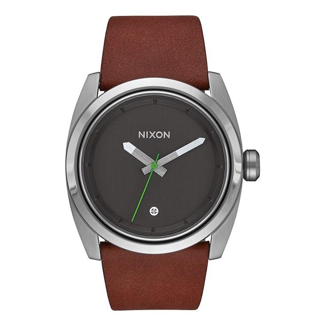 hodinky NIXON - Kingpin Leather Silver Brown (1113)