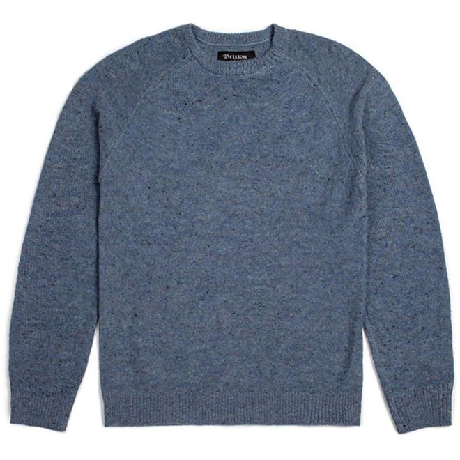 svetr BRIXTON - Anderson Sweater Blue (BLUE)