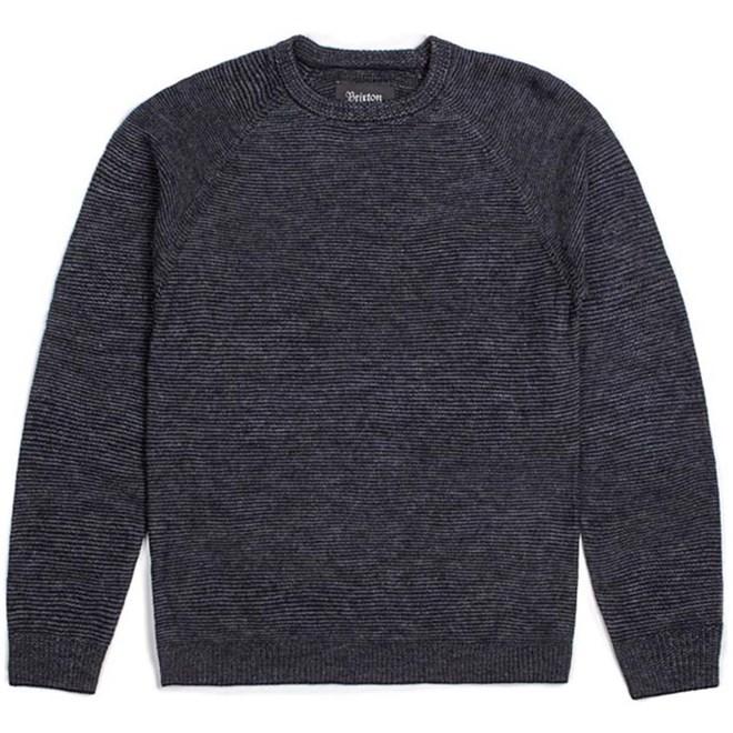 svetr BRIXTON - Anderson Sweater Grey/Black (GYBLK)