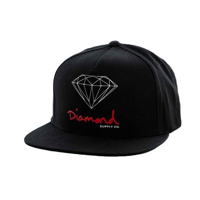 czapka z daszkiem DIAMOND - OG Logo Black (BLK)