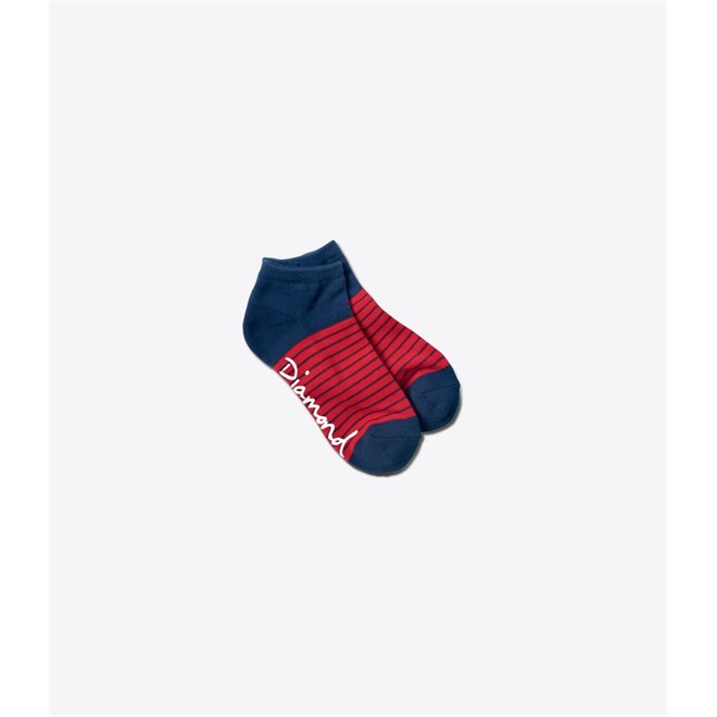 ponožky DIAMOND - Hamilton Low Sock Navy/Red (NYRD)