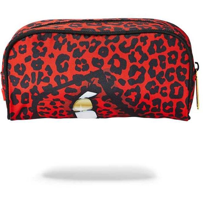 penál SPRAYGROUND - Red Leopard Lips Pencil Case (MULTI)