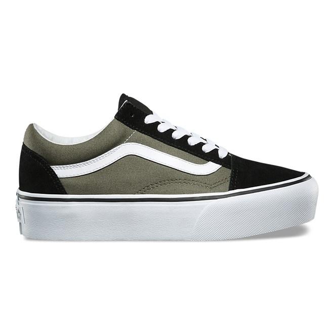 5d600985614 Shoes VANS - Old Skool Platform Grape Leaf True White (0FI ...