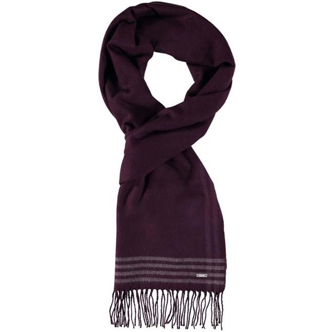 šála BENCH - Woven Check Scarf Dark Burgundy (BU017)