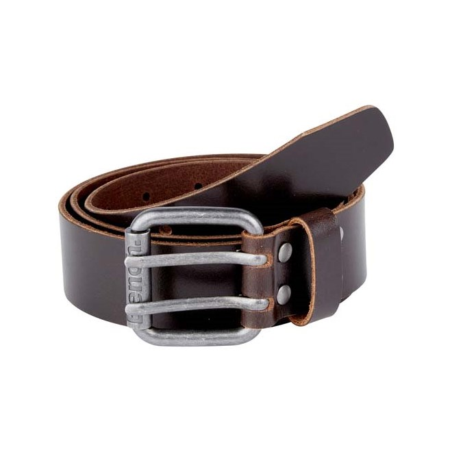 pásek BENCH - Double Prong Leather Belt Dark Brown (BR052)
