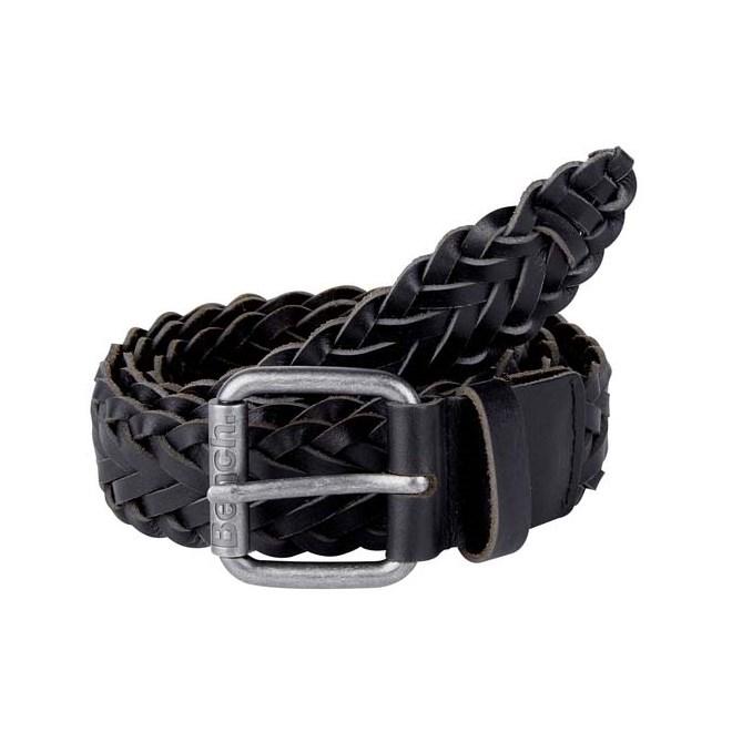 pásek BENCH - Plaited Leather Belt Black Beauty (BK11179)