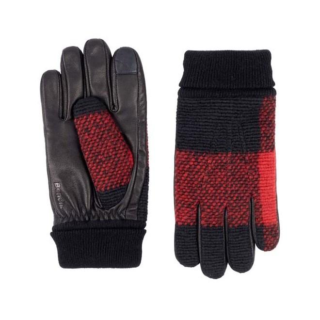 Gloves BENCH - Leather & Knit Glove Black Beauty (BK11179)