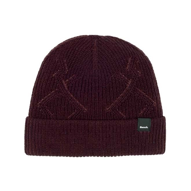 kulich BENCH - Fishermans Interest Rib Beanie Dark Burgundy (BU017)