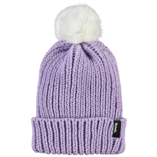 kulich BENCH - Turn Up Fur Pom Pom Beanie Orchid Petal (PU070)