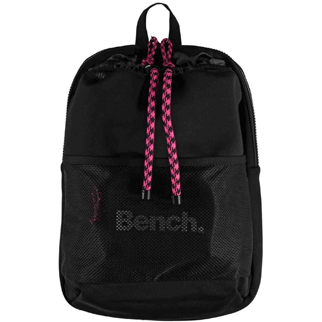 taška BENCH - Mesh Neopren Gym Bag Black Beauty (BK11179)