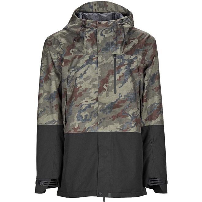 bunda BONFIRE - Control Stretch Jacket Olive Camo -Black (OLC)