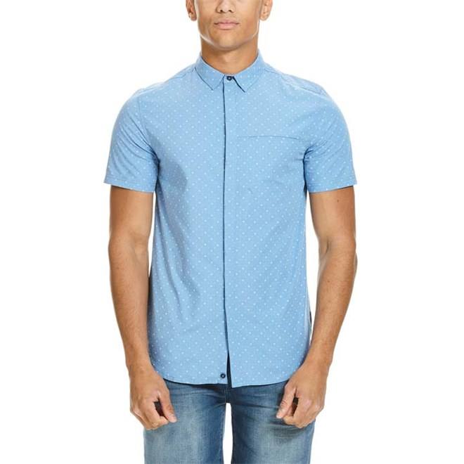 košile BENCH - Tile Aop Silver Lake Blue  (SK006)