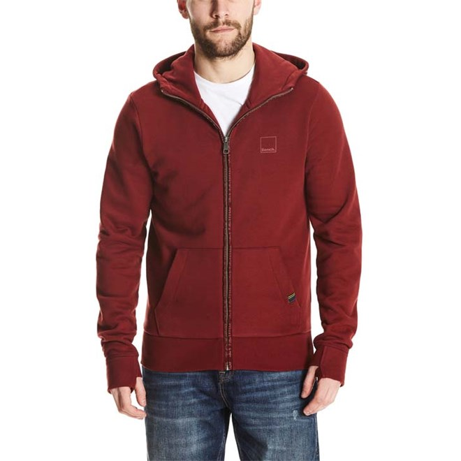 mikina BENCH - Her. Sweat Zip Jacket Cabernet (RD11343)