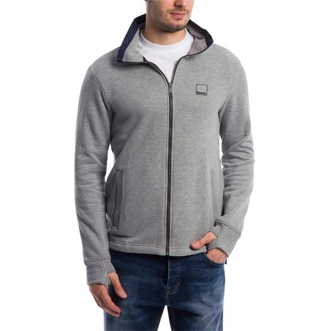 mikina BENCH - Zip Funnel Winter Grey Marl (MA1054)