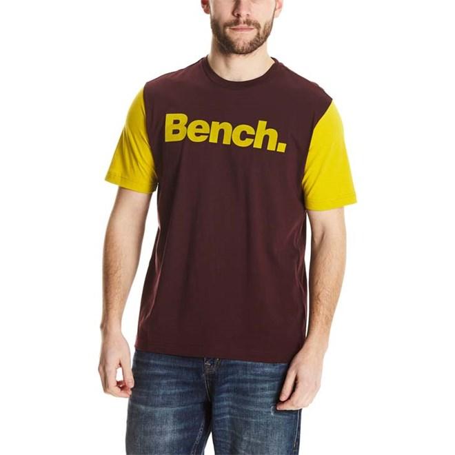 triko BENCH - Logo Tee Dark Burgundy (BU017)
