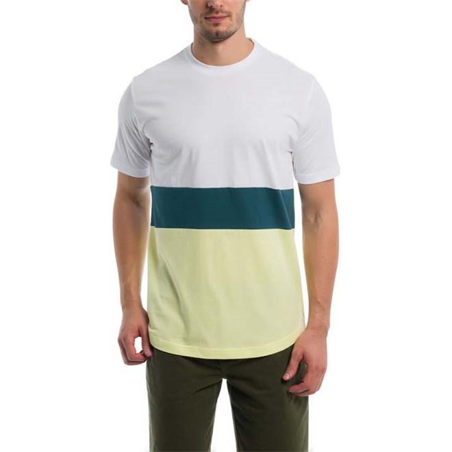 triko BENCH - Colorblock Stripe Tee Bright White (WH11185)