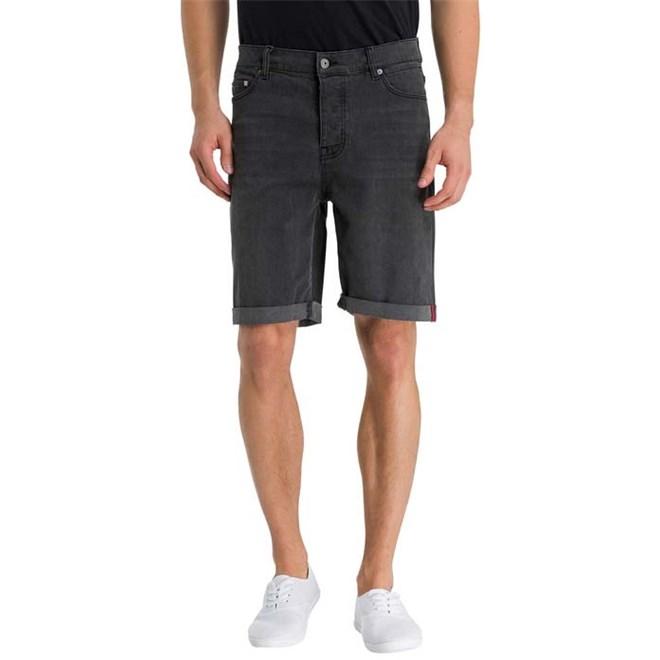 Shorts BENCH - Smokey Grey  Denim Short Black Mid Worn (DW1037)