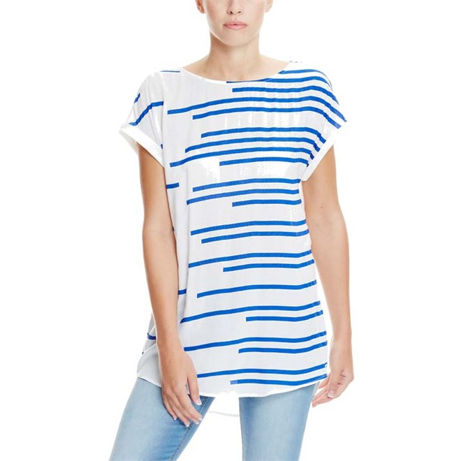 košile BENCH - Shirt Yves Blue Stripe (P1007)