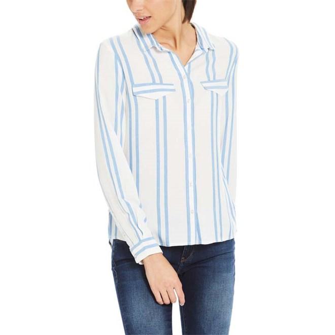 košile BENCH - Yd Striped Shirt Yd Stripe Palace Blue (P1090)