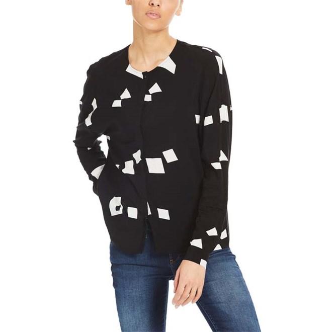 košile BENCH - Woven Mix Shirt Simple Graphic Black Beauty +  (P1087)