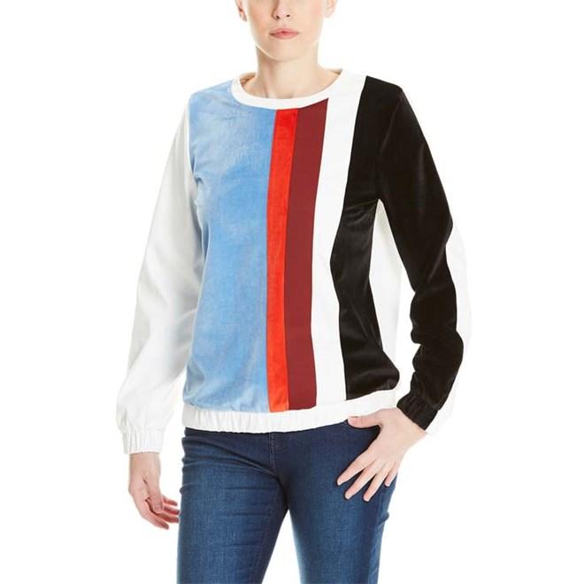 košile BENCH - Colourblock Shirt Snow White (WH11210)