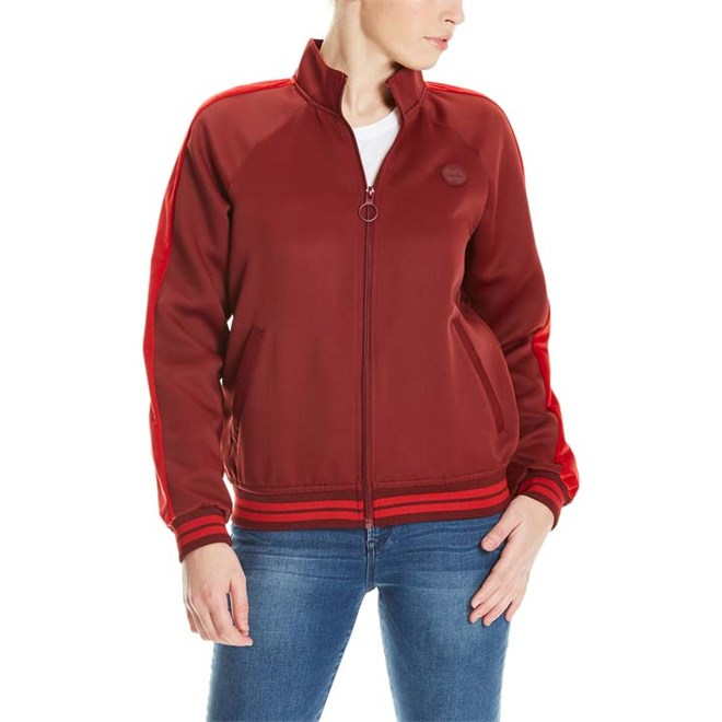 košile BENCH - Track Satin Jacket Cabernet (RD11343)