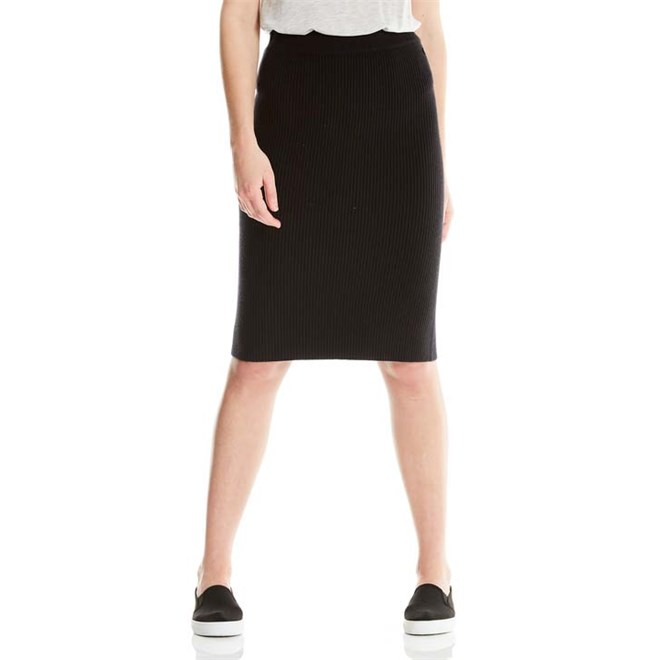 košile BENCH - Knitted Rib Skirt Black Beauty (BK11179)