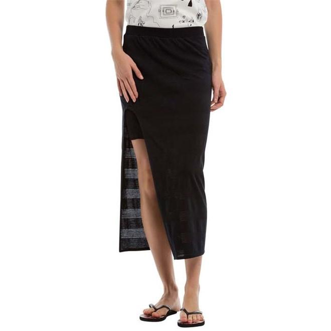 sukně BENCH - Long Striped Jersey Skirt Black Beauty (BK11179)