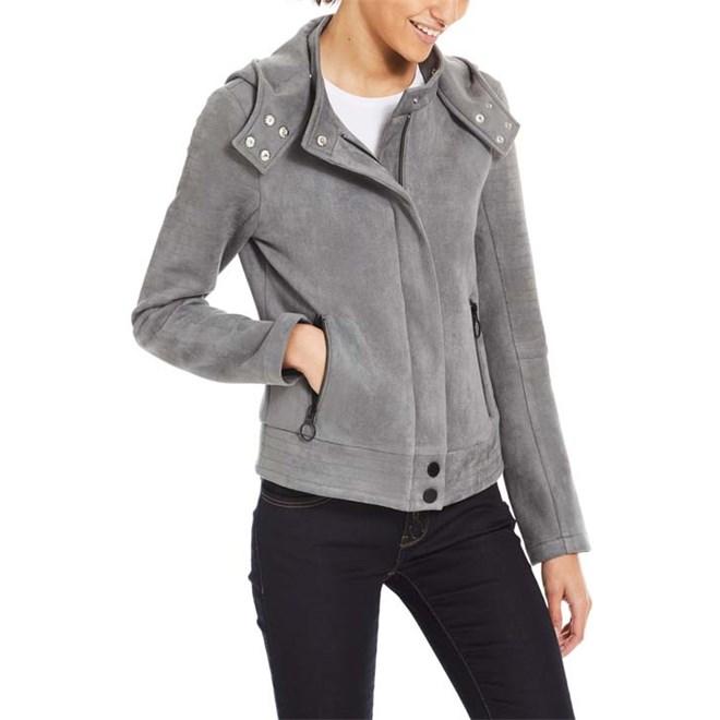 mikina BENCH - Alcantara Biker Jacket Dark Grey (GY149)