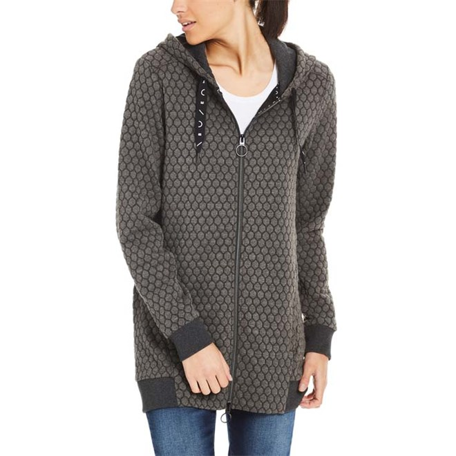 mikina BENCH - Long Zip Through Hoody Winter Antracite Marl (MA1055)