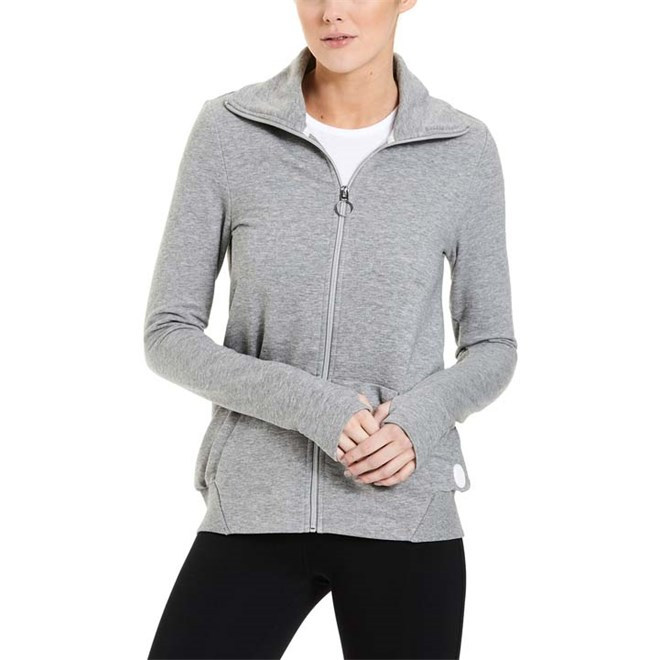 mikina BENCH - Funnel Neck Zip Through Winter Grey Marl (MA1054)