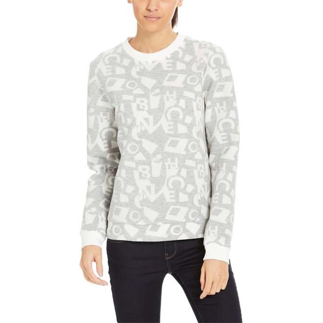 mikina BENCH - Jacquard Sweatshirt Typo Jacquard Aop (P1105)