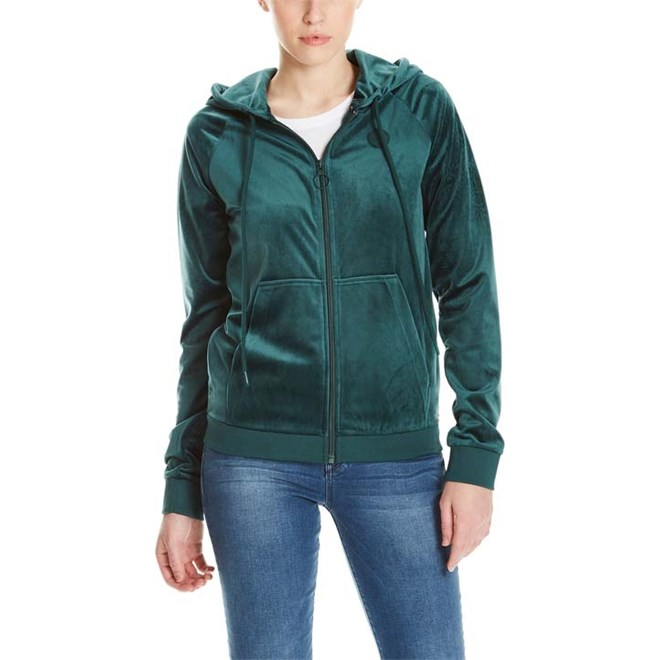 mikina BENCH - Velvet Jacket Dark Green (GR163)
