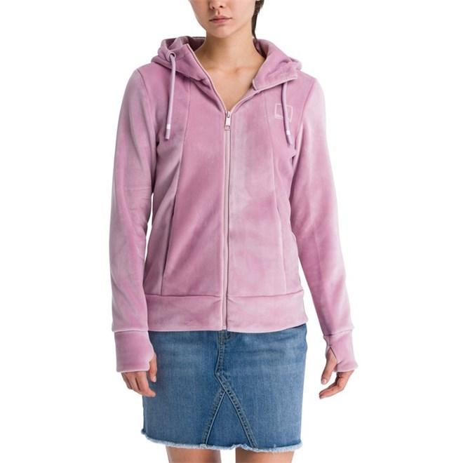 mikina BENCH - Her. Fleece Zip Through Hoody Dawn Pink (PK11462)