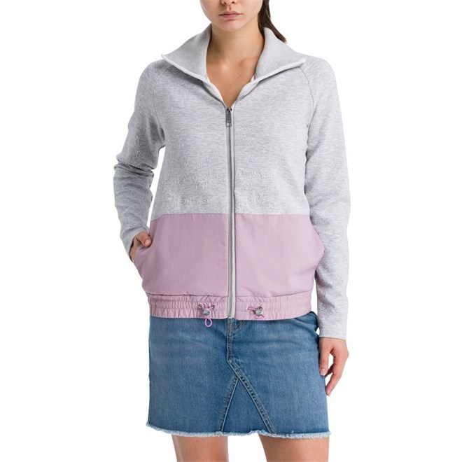 kurtka BENCH - Material Patch Funnel Jacket Summer Grey Marl (MA1026)